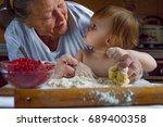 portrait of faces  hands happy... | Shutterstock . vector #689400358