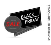 black friday sale advertising... | Shutterstock .eps vector #689400418