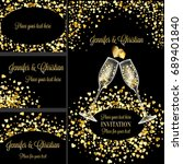 luxury wedding invitation and... | Shutterstock . vector #689401840