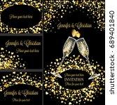 luxury wedding invitation and... | Shutterstock . vector #689401840
