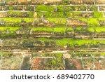 background of old vintage brick ... | Shutterstock . vector #689402770