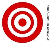 target symbol isolated on white.... | Shutterstock . vector #689404888