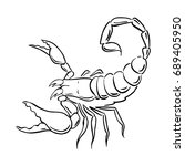 graphic scorpion  vector | Shutterstock .eps vector #689405950