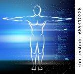 digital illustration of human... | Shutterstock . vector #689410228