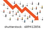 arrow down crisis economy... | Shutterstock .eps vector #689412856
