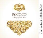 vector vintage decor  ornate... | Shutterstock .eps vector #689416048