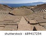 antique amphitheatre in the... | Shutterstock . vector #689417254