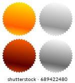 gold  silver  bronze badges... | Shutterstock . vector #689422480