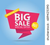 big sale special offer best... | Shutterstock .eps vector #689425390