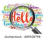 hello word cloud in different... | Shutterstock . vector #689428798
