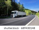 truck transportation | Shutterstock . vector #689430148