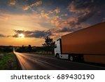truck transportation | Shutterstock . vector #689430190
