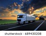 truck transportation | Shutterstock . vector #689430208