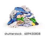 pile of clothes isolated on... | Shutterstock . vector #689430808