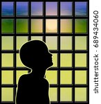 childhood emotional neglect.... | Shutterstock . vector #689434060