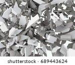 3d fractured chaos   Shutterstock . vector #689443624