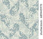 seamless damask pattern.... | Shutterstock .eps vector #689445970