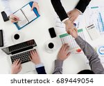 project approval | Shutterstock . vector #689449054