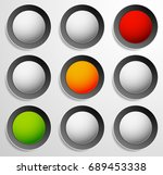 traffic lamp  traffic light ... | Shutterstock . vector #689453338