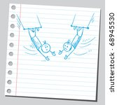 sketchy illustration of a two...   Shutterstock .eps vector #68945530