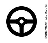 steering wheel icon. | Shutterstock .eps vector #689457943