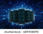 3d rendering database storage... | Shutterstock . vector #689458090