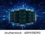 3d rendering database storage... | Shutterstock . vector #689458090