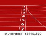 finish line red running track... | Shutterstock .eps vector #689461510