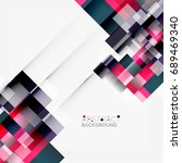 abstract vector blocks template ... | Shutterstock .eps vector #689469340
