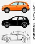 off road vehicle in three... | Shutterstock . vector #689476324