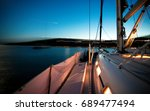 long exposure  sailing on a... | Shutterstock . vector #689477494