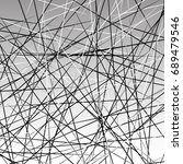 chaotic grayscale lines texture.... | Shutterstock . vector #689479546