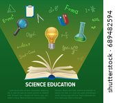 science education design... | Shutterstock .eps vector #689482594
