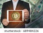 blockchain concept   rise of... | Shutterstock . vector #689484226