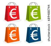 icon logo for shopping business.... | Shutterstock .eps vector #689488744