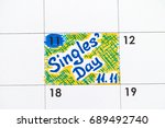 reminder singles day 11.11 in... | Shutterstock . vector #689492740