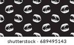 halloween ghost dracula teeth... | Shutterstock .eps vector #689495143