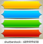 button  banner shapes ... | Shutterstock . vector #689499658