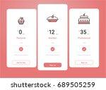 vector price table template... | Shutterstock .eps vector #689505259