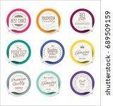 modern sale sticker collection | Shutterstock .eps vector #689509159