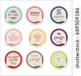 modern sale sticker collection | Shutterstock .eps vector #689509186