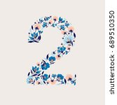 set of number 0 9 from...   Shutterstock .eps vector #689510350