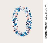 set of number 0 9 from...   Shutterstock .eps vector #689510374