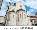 the cathedral of st. lawrence... | Shutterstock . vector #689513464