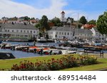 Small photo of Risor, Norway - June, 30, 2017: harbour of Risor, Norway