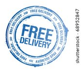 free delivery vector stamp. | Shutterstock .eps vector #68952847