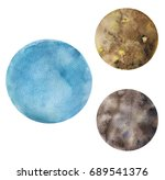 watercolor hand drawn... | Shutterstock . vector #689541376