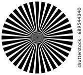 circular pattern of radial ... | Shutterstock . vector #689544340