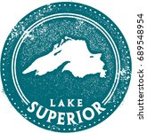 vintage lake superior great... | Shutterstock .eps vector #689548954