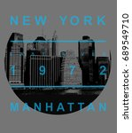 photo print new york building... | Shutterstock . vector #689549710